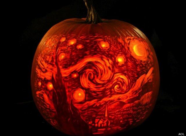 Five Unique Pumpkin Carving Ideas for Halloween , Greens